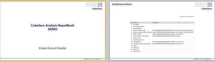 Deckblatt und Inhaltsangabe werden automatisch erstellt