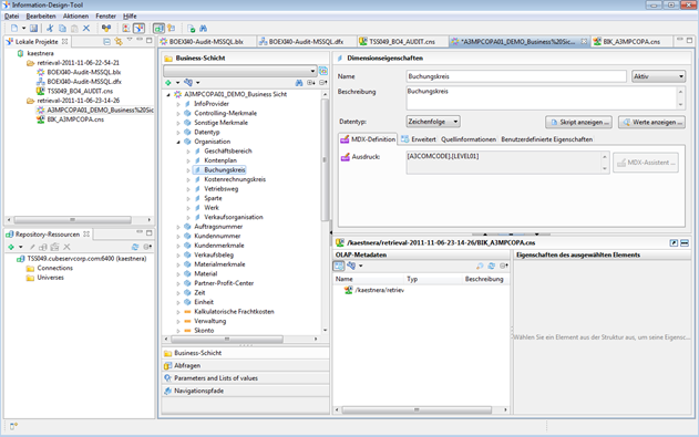 OLAP Universen auf Basis SAP NetWeaver BW