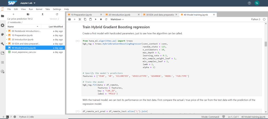 JupyterNotebook_Python_ModelTraining