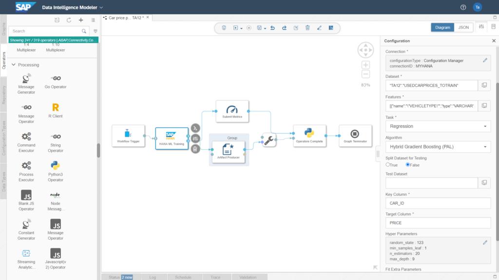 SAP HANA Machine Learning Operator